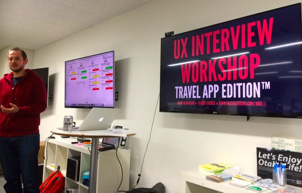 UX interview workshop at UX talk Tokyo #15 event photo