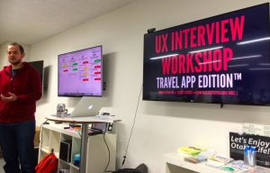 Mark's UX interview workshop at UX talk Tokyo #15
