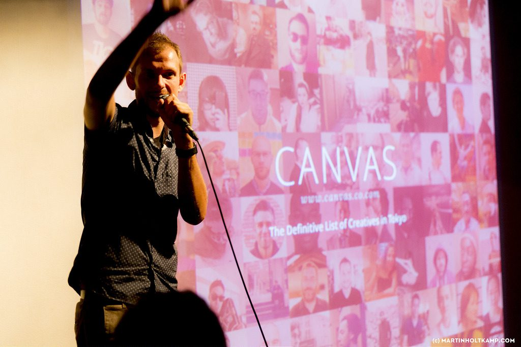 Presenting Canvas at Pechakucha Tokyo Vol. 128 event photo