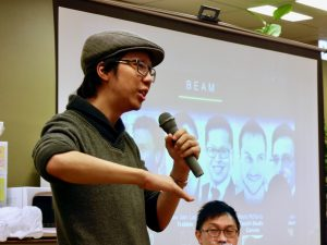 A panel discussion about entrepreneurship at BEAM's first Tokyo event